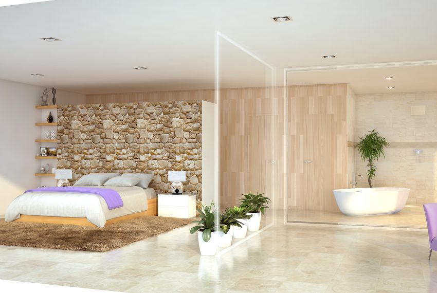 Bed room and Bath room render Angle 2